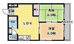 新光永住[2階]の間取り