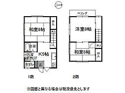 長野県諏訪郡下諏訪町西赤砂の賃貸アパートの間取り