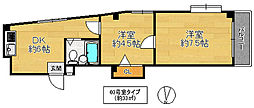 ハイムM&K徳庵[3階]の間取り