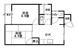 サニーサイドアップ[2階]の間取り