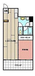 田町ビル[406号室]の間取り
