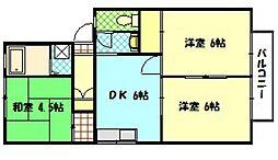 広島県廿日市市地御前5丁目の賃貸アパートの間取り