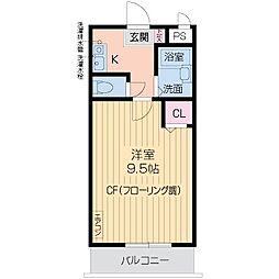 ハイツNANIWA[0303号室]の間取り