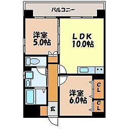 Residence赤迫[703号室]の間取り