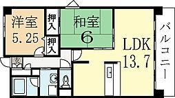 ボナール大三戸[2階]の間取り