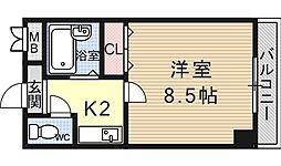 ヴェルメゾン大宅[202号室号室]の間取り