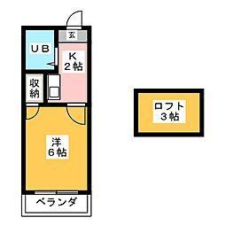 LA TAZUII[1階]の間取り