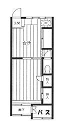 タカラハイツ[1−2号室]の間取り