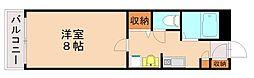 福岡県福岡市城南区鳥飼4丁目の賃貸マンションの間取り