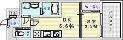セレニテ三国プリエ 5階1DKの間取り