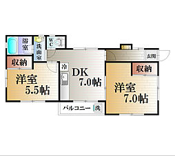 ハイツ稲98[2F号室]の間取り