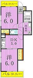 オオギロイヤルコート[6階]の間取り