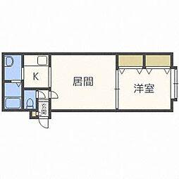 北海道札幌市東区北二十八条東17の賃貸アパートの間取り