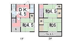 [一戸建] 兵庫県姫路市名古山町 の賃貸【/】の間取り