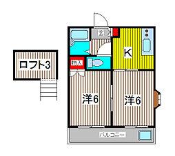 ハイムO.Z[2階]の間取り