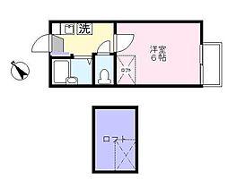 リペーヌ堀ノ内[205号室]の間取り