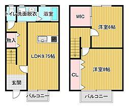 [テラスハウス] 静岡県浜松市中区早出町 の賃貸【静岡県 / 浜松市中区】の間取り