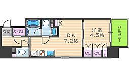 ザ・パークハビオ堂島[13階]の間取り