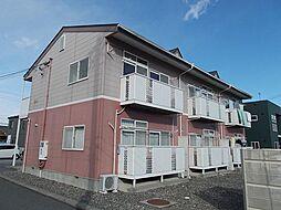 長野県松本市梓川倭の賃貸アパートの外観