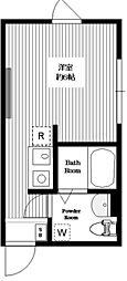 b.O.maison 3階ワンルームの間取り