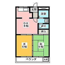 加賀野コーポI[2階]の間取り