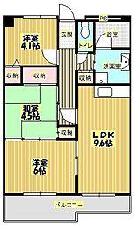 トーシンコーポ箕面[1階]の間取り