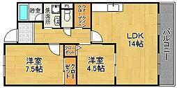 サンシャインミフネIII[2階]の間取り