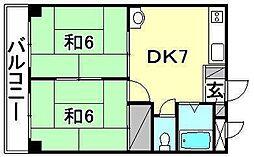 ビージョイマンション1号館[404 号室号室]の間取り