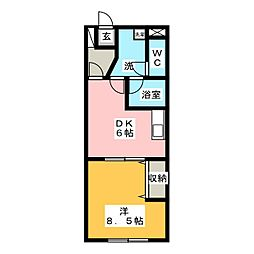 ヴィブレ宮脇[3階]の間取り