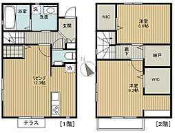 [テラスハウス] 千葉県船橋市印内2丁目 の賃貸【/】の間取り