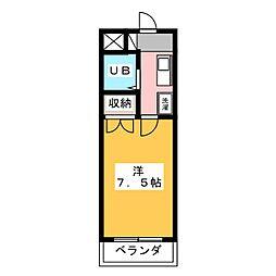プチ桜[4階]の間取り