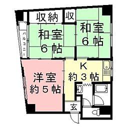 岐阜県関市本町8丁目の賃貸アパートの間取り