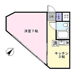 MAC千束コート[407号室]の間取り