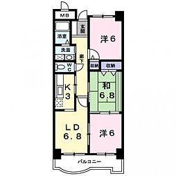 サンフローラ[4階]の間取り