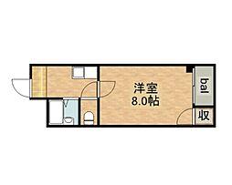 新深江ツリガミビルパートI[5階]の間取り