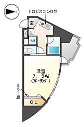 サンホン平安[4階]の間取り