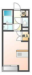 JR山陽本線 瀬戸駅 徒歩26分の賃貸アパート 2階1Kの間取り