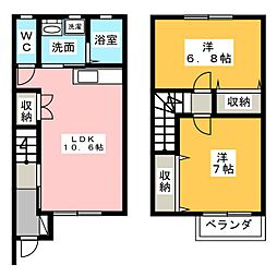 [テラスハウス] 愛知県弥富市三百島1丁目 の賃貸【/】の間取り