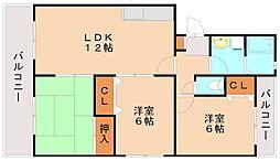 ローヤル南福岡[2階]の間取り