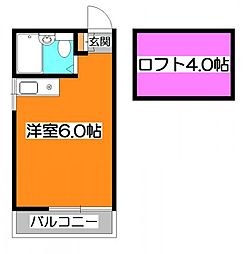 メゾンアルエット[2階]の間取り