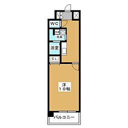 ザ・パーククロス栄[8階]の間取り