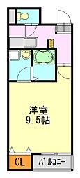 クレフラスト蘇我町[1階]の間取り