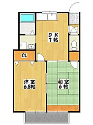 千葉県船橋市本中山2丁目の賃貸アパートの間取り