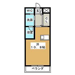 みやまマンションII[1階]の間取り