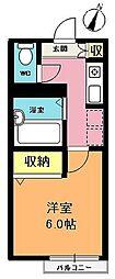 埼玉県上尾市富士見2丁目の賃貸アパートの間取り