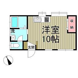 鎌倉ウィング[B号室]の間取り