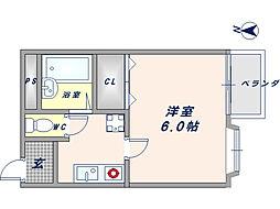 セントラルハイツIII[3階]の間取り