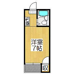 サンフローラ[503号室]の間取り