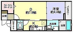 パルク栄光[2階]の間取り