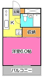 埼玉県所沢市くすのき台2丁目の賃貸マンションの間取り